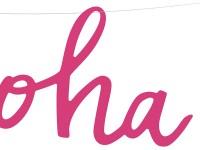 Aloha Girlande in Flamingo-Pink 19 cm