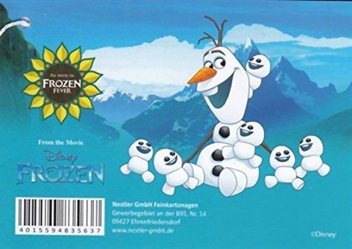 Etiqueta de cono escolar Olaf Frozen