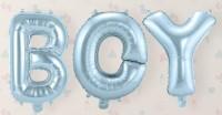 Folienballon Schriftzug Boy silberblau 39cm