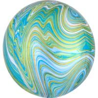 Marblez Orbz Ballon grün 38 x 40cm