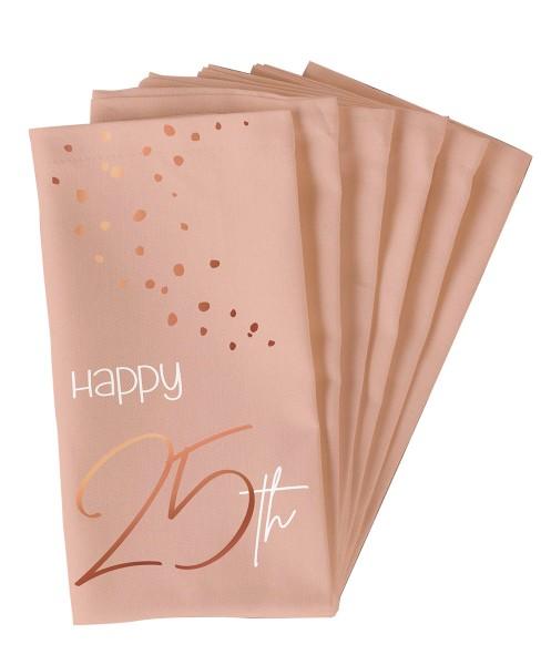 10 servilletas 25 cumpleaños Elegant blush