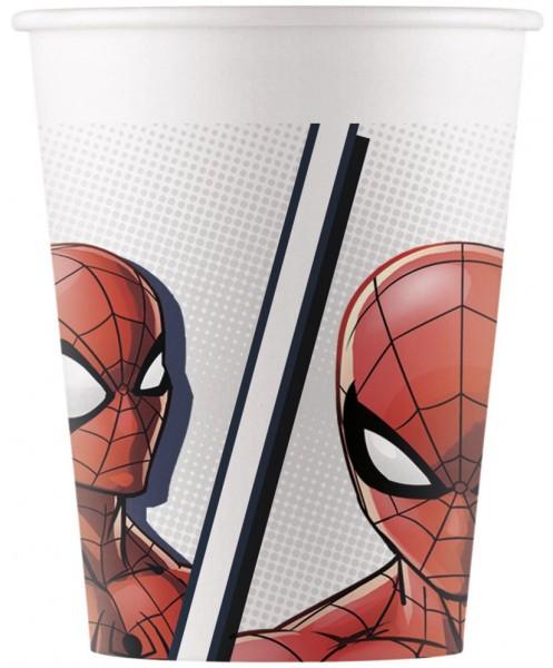 8 Spiderman Super Hero eco power paper cups 200ml