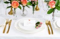 10 Herzchen Tischkarten roségold