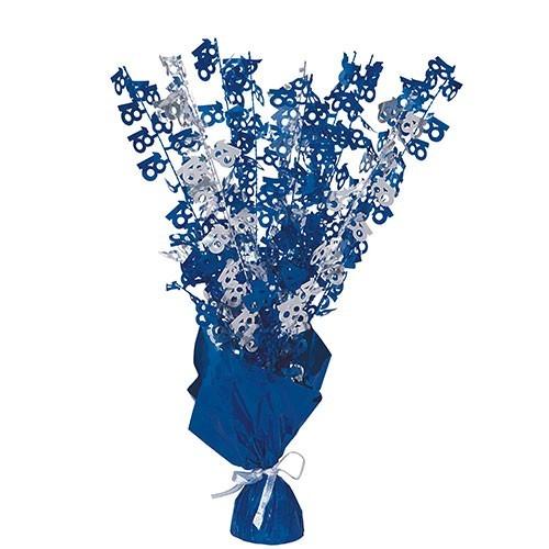 Happy Blue Sparkling 18th Birthday Tischfontäne 42cm