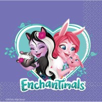 16 Enchantimals Tierliebe Servietten 33cm