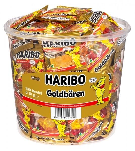 100 Beutel Haribo Goldbären 10g
