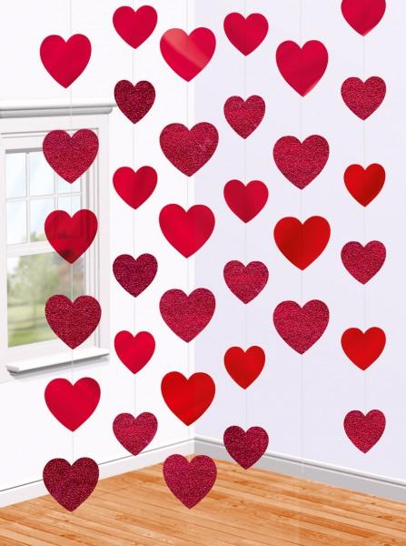 Valentines Day Herzen Hängedekoration 210cm 1