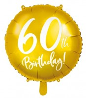 Glossy 60th Birthday Folienballon 45cm