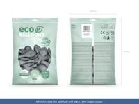 100 Eco Pastell Ballons grau 26cm