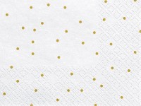 20 weiße Golden Dots Servietten 33cm