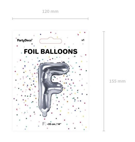 Ballon aluminium F argent 35cm