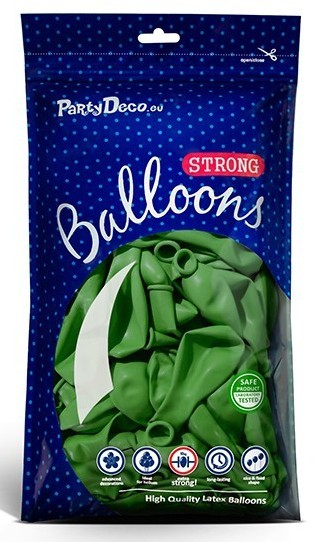 10 party star balloons apple green 27cm