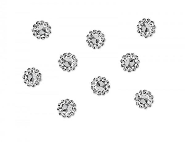 50 Kristallblüten Streudeko silber 1cm
