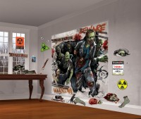 Zombie Town Wandkulisse 32-teilig