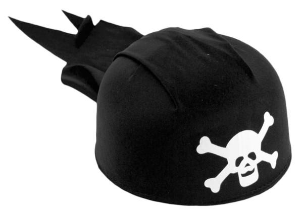 Hut Piraten Kopftuch schwarz