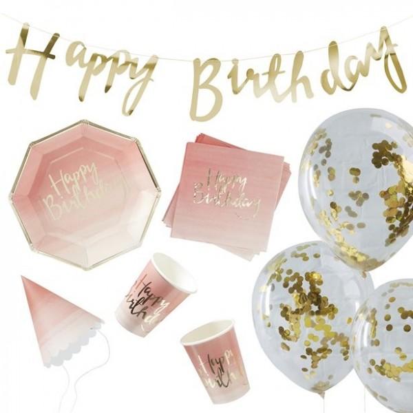 Birthday Blush Partyset 70-teilig