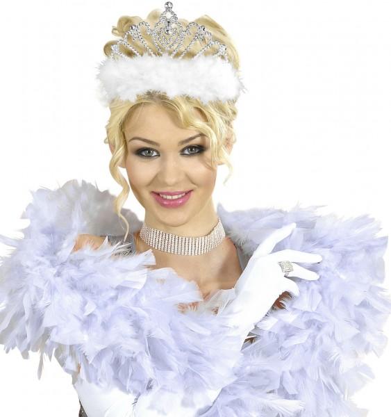 Marabou feather tiara