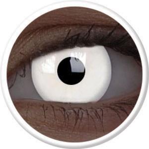 Leuchtende UV Kontaktlinse weiß
