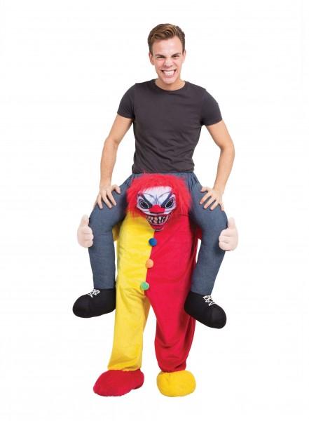 Circus clown of death piggyback costume