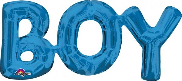 Foil balloon lettering Boy blue 50x22 cm