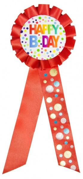 Botón espléndido feliz cumpleaños