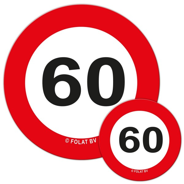 XXL Streudeko zum 60. Geburtstag 48-teilig