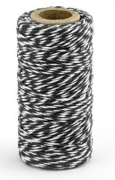 50m Baumwollgarn in Schwarz-Weiß