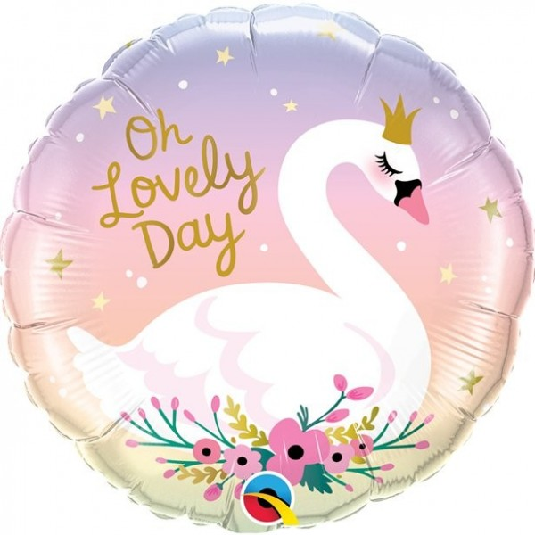 Oh lovely Day Schwan Folienballon 46cm