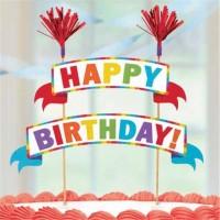 Rainbow Birthday Tortendeko Banner