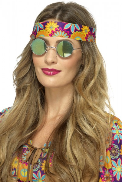 Mirrored hippie glasses