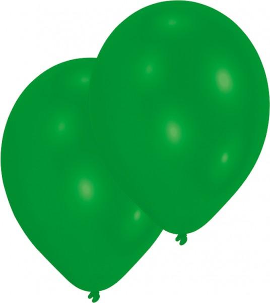 50er-Set Luftballon Grün 25 cm