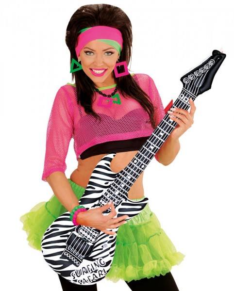 Zebra guitar inflatable 105cm