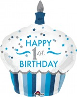 Folienballon Sweet Cupcake 1st Birthday Prince