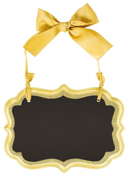 Goldenes Tafelschild 13,9 x 10,1cm