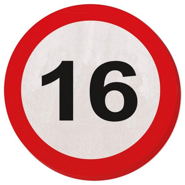 20 Verkehrsschild 16 Servietten 33cm