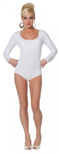 Body classique à manches longues blanc