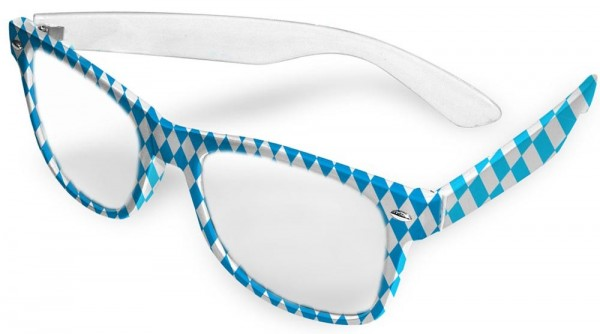 Oktoberfest Brille Wiesn Blau-Weiß