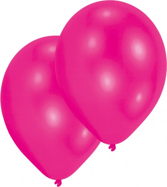 Set of 10 pink balloons 27.5cm