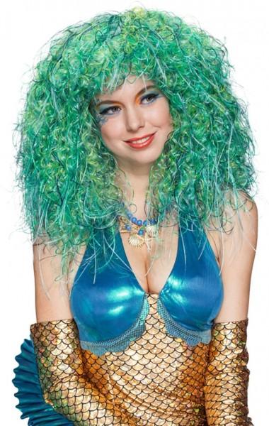 Blau-Grüne Meerjungfrauen Perücke