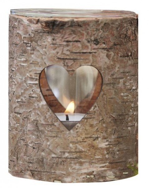 Rustic heart lantern 9 x 7cm
