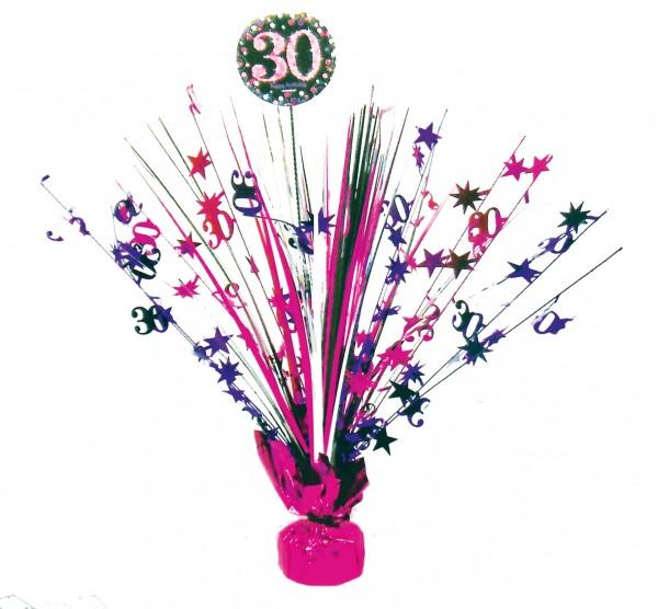 Pink 30th Birthday Tischfontäne 46cm