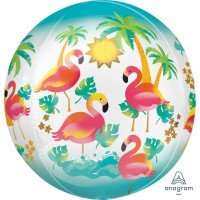 Runder Folienballon Let`s Flamingle 38 x 40cm