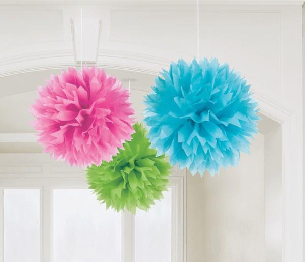3 Romance pompoms colored
