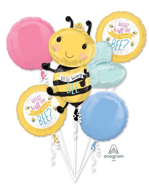 Ensemble de ballons en aluminium pour bébés abeilles