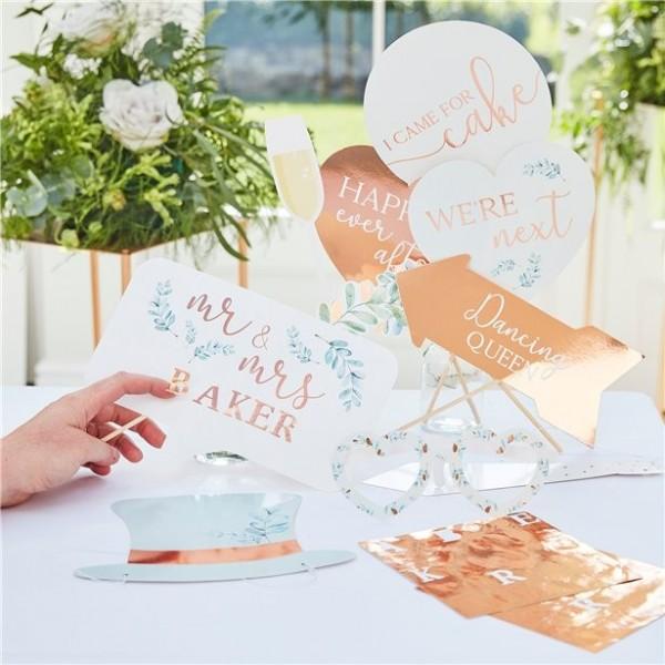 10 accesorios para fotos de boda de cuento de hadas