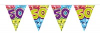 Groovy 50th Birthday Wimpelkette 3m