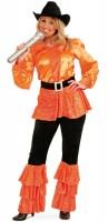70s Disco Fever Damenkostüm orange