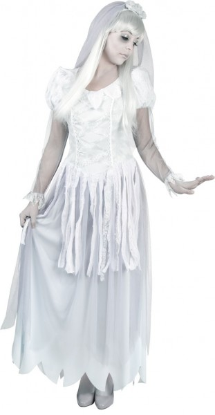 White ghost bride costume
