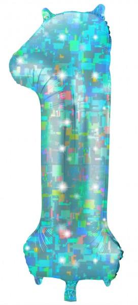 Numer holograficzny 1 aqua 1,01m
