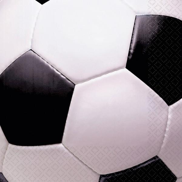 16 Fußball Party Servietten 33cm